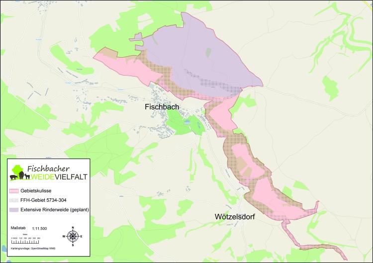 Karte Gebiet Fischbach